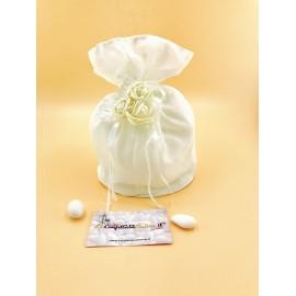 Sacchettone bianco con roselline