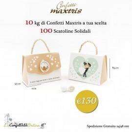 Promo 10kg Maxtris con 100 scatoline solidali