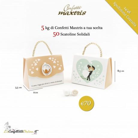 5kg confetti Maxtris + 50 portaconfetti solidali